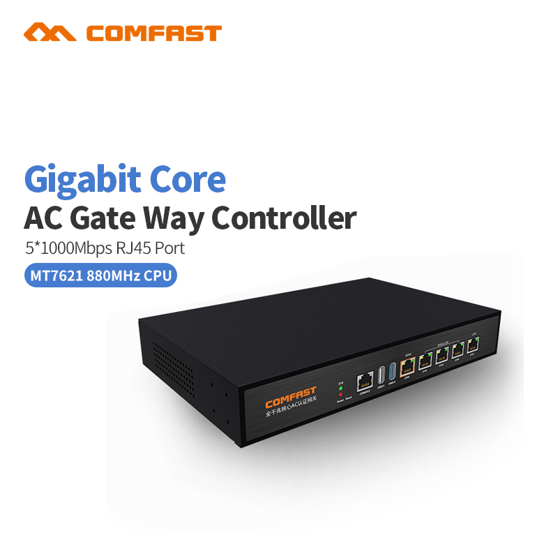 Comfast CF-AC100 Gigabit AC Authentication Gateway Routing MT7621 880Mhz Multi WAN Load balance Core Gateway wifi project router comfast cf ac100 ac gate way controller mt7621 880mhz core gigabit gate way wifi project manager with 4 1000mbps wan lan port