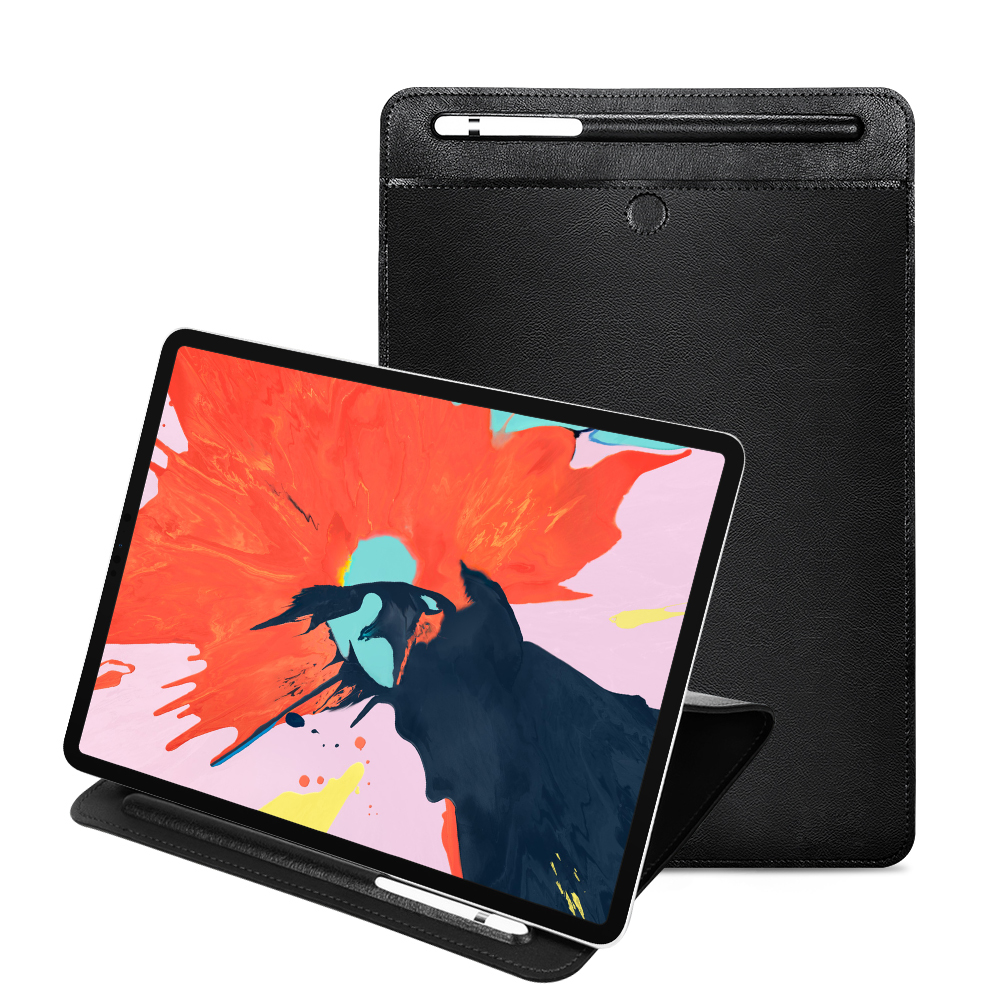 Case For Ipad 9.7 2017 Air 2 1 2 3 4 Pro 11 10.5 9.7 Case With Pencil Holder Slot Magnetic Bag PU Leather Sleeve With Stand