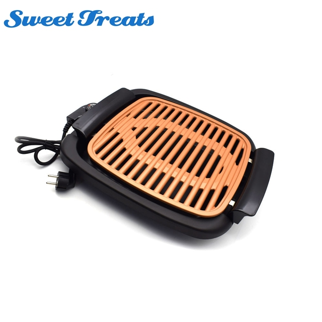 Sweettreats Smokeless Electric Grill And Griddle, Portable And Nonstick As  Seen On TV