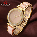 AMUDA Brand Relogio Feminino Female Diamond Quartz-Watch Women Fashion Casual Watch Ladies Bracelet Dress Wrist Watches