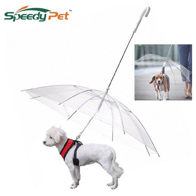 Высококачественный зонт для домашних животных прозрачный зонтик для собак с поводком в сборе для защиты от дождя и снега товары для домашних собак