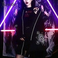 Rosetic Gothic Harajuku Women Summer Kimono Blouse Japanese Style Magic Circle Print Darkness Cardigan Casual Loose Goth Blouses