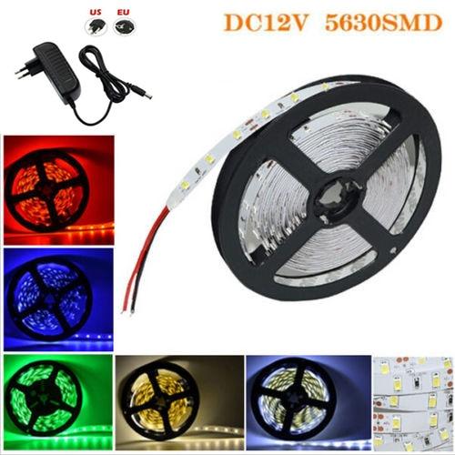 12 Volt Led Light Strips Led Strips 220v Aquarium 5630: 5M 300Leds 5630 SMD LED Strip Light DC12V String LED Tape