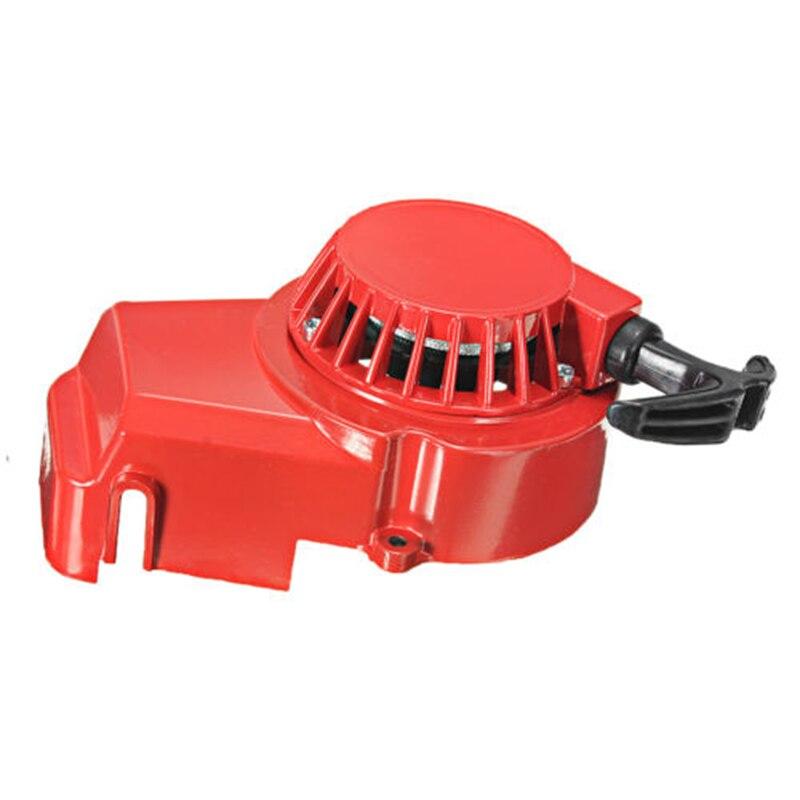 Metal çekme başlangıç 49cc hava soğutmalı 2 zamanlı Mini Moto kir Quad Pullstart 49 cc-kırmızı