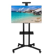 Stable TV Mobile Rack Stand Holder Support with Wheels for LCD LED Plasma Flat Panels Fit For 32-65 inch