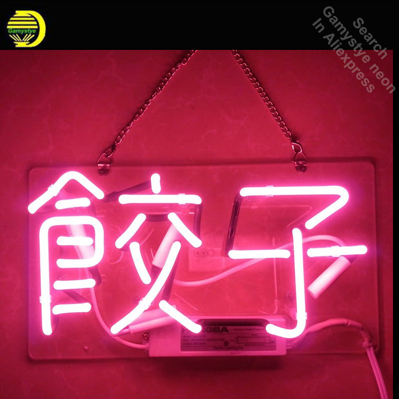 Restaurant Shop Neon Sign Dumplings In Chinese jiao zi neon Light Sign Custom Brand Design Restaurant Hotel Neon signs for sale цены