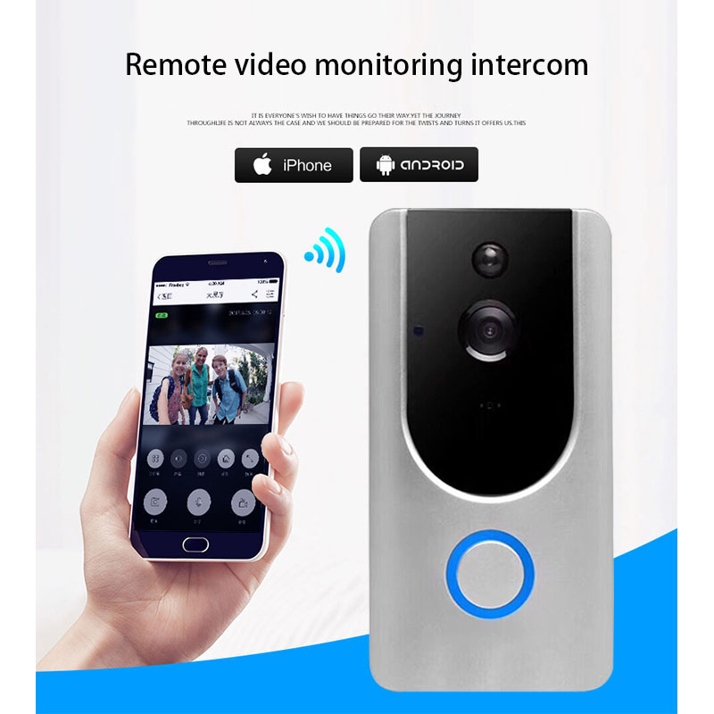 Wireless Security Camera Wireless Doorbell Ring Chime Door Bell Video Camera WiFi 720P Waterproof IR Night Vision Two Way Audio howell wireless security hd 960p wifi ip camera p2p pan tilt motion detection video baby monitor 2 way audio and ir night vision