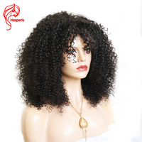 250 плотность Синтетические волосы на кружеве человеческих волос парики предварительно сорвал афро кудрявый завиток Синтетические волосы н