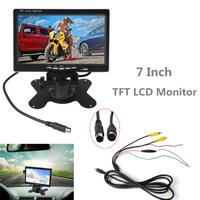 7 Inch Car Monitor for Rear View Camera Auto Parking Backup Reverse Monitor Headrest 2CH HD 800*480 TFT LCD Screen