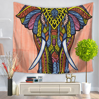 150*200cm Elephant Tapestry Hippie Wall Hanging Tapestries Boho Bedspread Beach Towel Yoga Carpet Blanket Table Cloth For Home