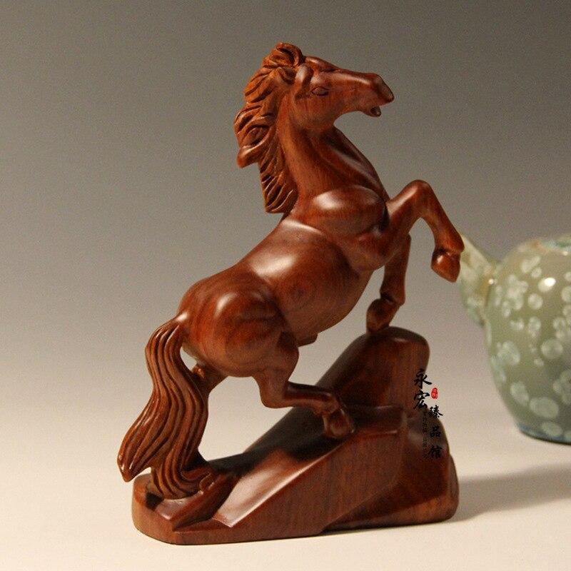 Wood carving crafts horse,desktop Decoration home decorations ornaments(A012)