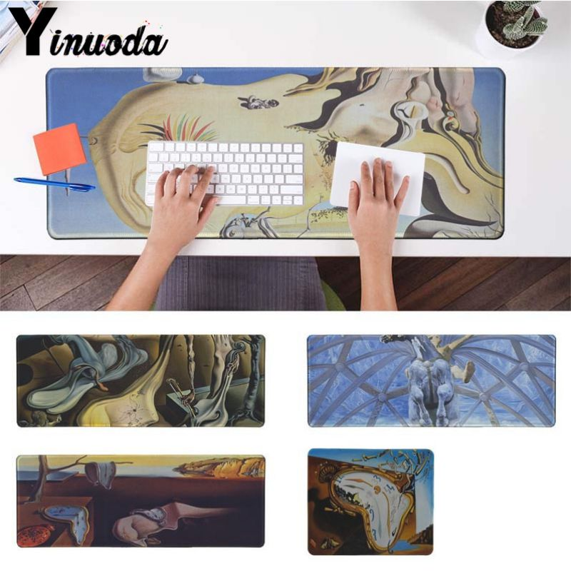 Yinuoda New Printed Popular Salvador Dali Large Mouse pad PC Computer mat Size for 250*290 300*900 400*900cm Small Mouse Pad