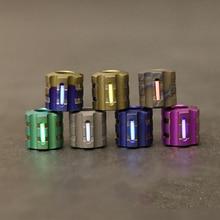 Granos de la aleación de titanio W Knit Paracord puede adaptarse Tritium Cuchillo de tubo de gas Cordón cuerda para paraguas Cordón al aire libre Gadget EDC Multi herramientas