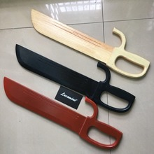 wooden tai chi swords red black colors wood kung fu performance bart cham dao Wing chun Martial arts crafts
