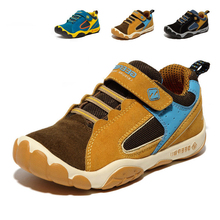 2016 Genuine Leather Children Shoes Size 28-40 Waterproof Kids Sneakers Breathable Girls and Boys Sports Shoes Outdoor Trainers