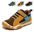 2017 niños del cuero genuino shoes tamaño 28-40 niños impermeables niñas y niños deportes shoes sneakers transpirable al aire libre entrenadores