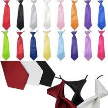 Gravata de pescoço com elástico, gravata da moda para meninos e crianças, para casamento, cor sólida, para meninos e bebês, casamento, mancha