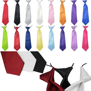 Boy Tie Necktie Wedding Baby School Solid-Colour Kids Fashion Children Elastic-Tie