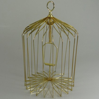 Novelty Small Bird Cage For Dove Appearing Gold Magic Tricks Stage Magic Props 81192