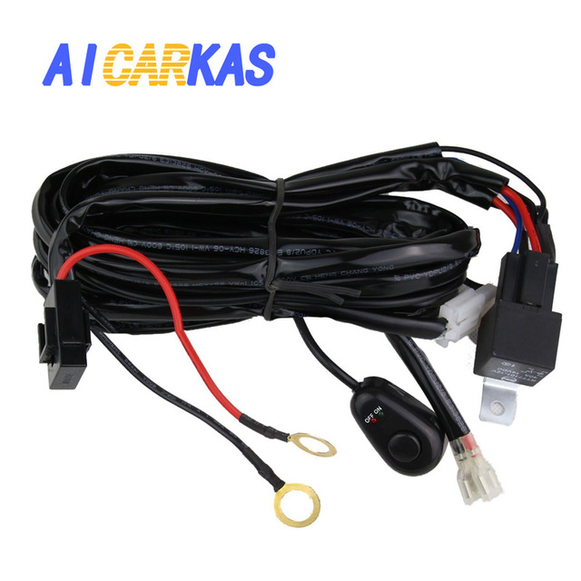 led light bar wiring harness 12v 40a off road car led light bar on rh aliexpress com Automotive Wiring Harness Connectors 5 Wire Relay Wiring
