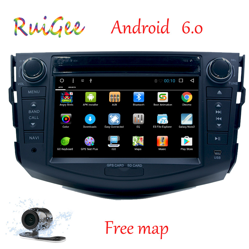 2Din Android 7.1 Car DVD Player Radio Rav4 Audio Video Stereo GPS Navigation RDS 3G 4G Wifi Quad Core 1024*600 Capacitive Screen
