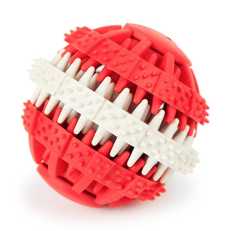 Hellomoon Rubber Gear Grinding Ball 6cm Dog Cleaning Leak Food Global Toy in Dog Toys from Home Garden