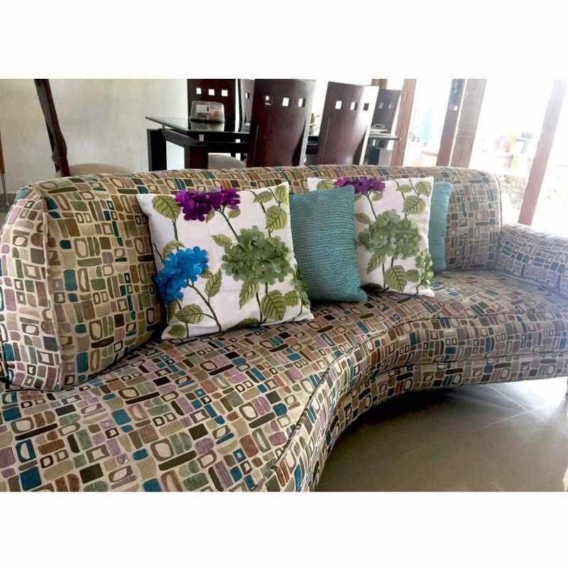 Algodão decorativo Quadrado Capa de Almofada para o Sofá, Planta Bordado Capas de Almofada, cadeira Do Sofá Capa de Almofada Throw Pillow Case Capa