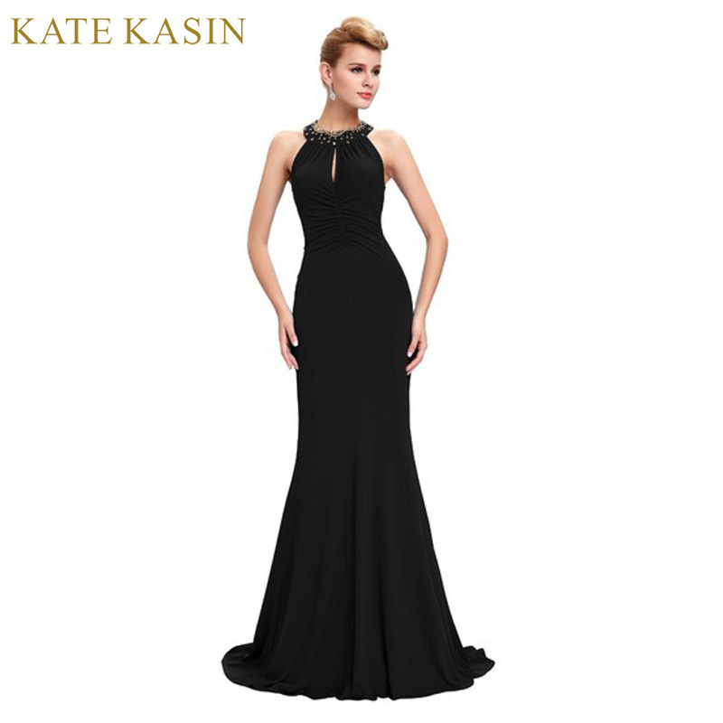 Kate Kasin Black Blue Red Mermaid Prom Dresses Long 2018 Sexy