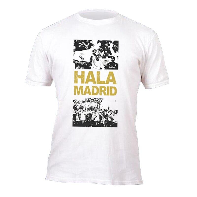 e1a7ae8c3a4 2017 tide brand short sleeve T shirt HALA MADRID Braca Man United gunner  liverpool Juventus Dortmund Milan Roma Tops jersey Tees-in T-Shirts from  Men s ...
