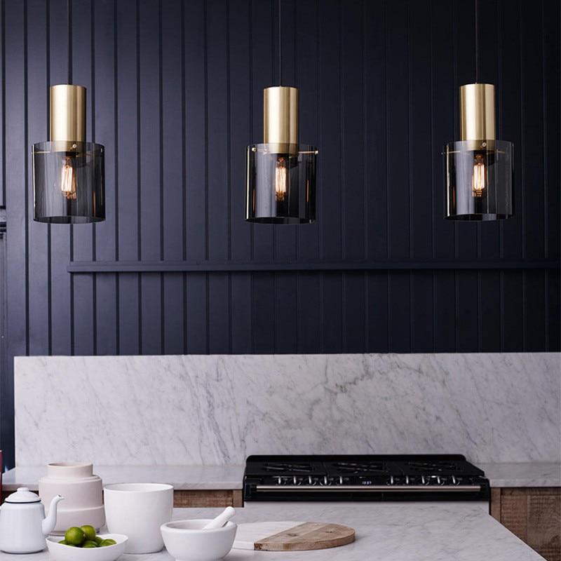 Nordic LED Chandelier Danish Restaurant Lights Postmodern Simple Single Head Bar Bedside Coffee Shop Lamp Free