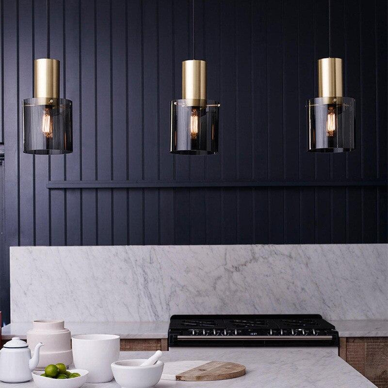 北欧 LED シャンデリアデンマークレストランライトポストモダンシンプルなシングルヘッドベッドサイドコーヒーショップランプ送料無料  グループ上の ライト & 照明 からの ペンダントライト の中 1