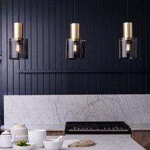 Nordic LED żyrandol duński oświetlenie do restauracji postmodernistyczny prosty pojedynczy klosz Bar lampka nocna kawiarnia darmowa wysyłka