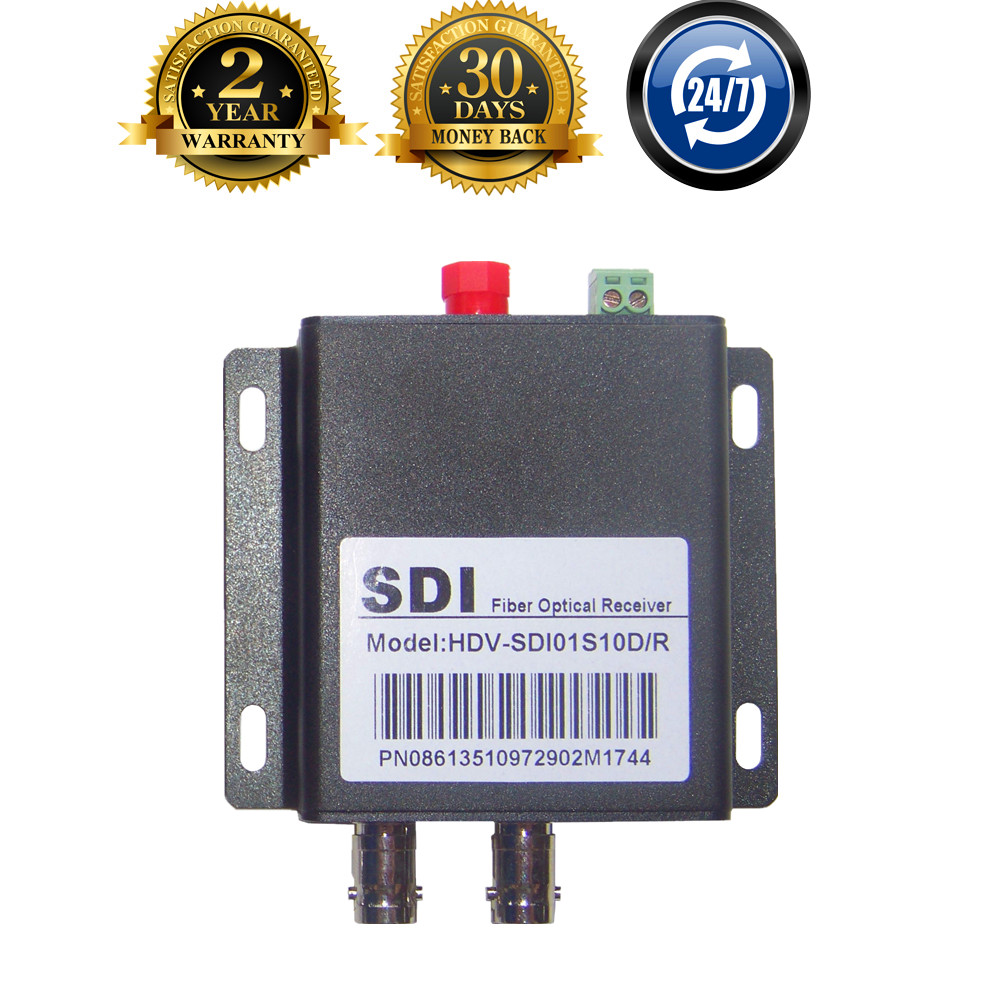 HD SDI Optical Transceiver Fiber Media Converter With RS485 Data BNC Fiber Optic To SDI Video Transmitter Receiver (2 x SDI Out)