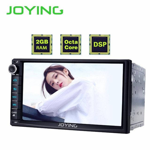 """7"""" Double 2 Din Android 8.1 Media NO DVD Player Universal Car Radio Stereo Octa Core GPS Navigation Head Unit Steering Wheel"""
