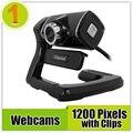 Libre En el Disco 100% de Alta Calidad Mini USB HD Webcam Web Cam cámara Con Luces de La Noche Para El Ordenador PC de Sobremesa Portátil de Grabación de Vídeo