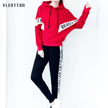 High quality 2019 New women two piece outfits Hooded sweater and Pants Plus Size women tracksuit Spring autumn Casual female set цена в Москве и Питере