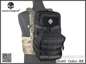 Image 5 - Equipo militar del ejército EMERSON, mochila de juego de guerra de senderismo, mochila de asalto Modular con bolsa de hidratación de 3L EM5816