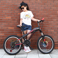 20 24 21 Speed High Carbon Steel Mountain Bike For Students Sport Bicycle MTB Suspension Fork