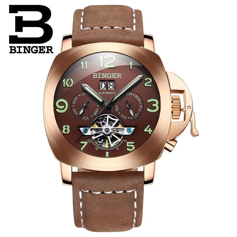 Ελβετικό πολυτελές ρολόι ανδρών BINGER - Ανδρικά ρολόγια - Φωτογραφία 3