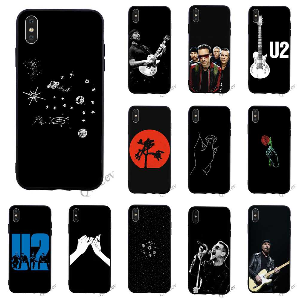 Hybrid U2 Bono The Edge Phone Cover for iPhone X Case 6 6S XR Xs Max 11 pro 8 Plus 7 5S 5 SE Silicone Cases image