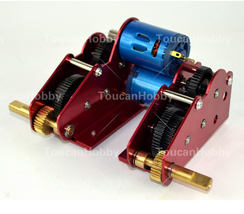 H+L 49mm Ultimate II Metal Gearbox For HengLong 1/16 Soviet T34/85 RC Tank 3909