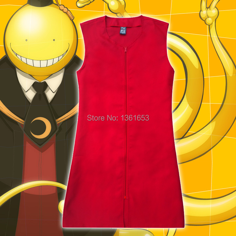 Hight quality Assassination Classroom cosplay vest Japanese anime Korosensei red waistcoat costumes for adult Halloween dress