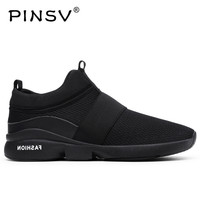 PINSV Summer Shoes Men Sneakers Fashion White Footwear Men Casual Shoes Plus Size 39 46 Chaussure Homme 2018
