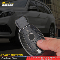 ANTEKE for Mercedes benz GLE ML GL GLS Car key case cover Protector carbon fiber cover high quality