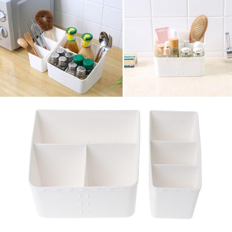 Multi-Grid Storage Container Plastic Desktop Storage Box Cosmetic Makeup Organizer Gadget Case