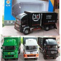 1 60 Alloy Container Car Express Car Postal Car Small Alloy Car Model For Children S