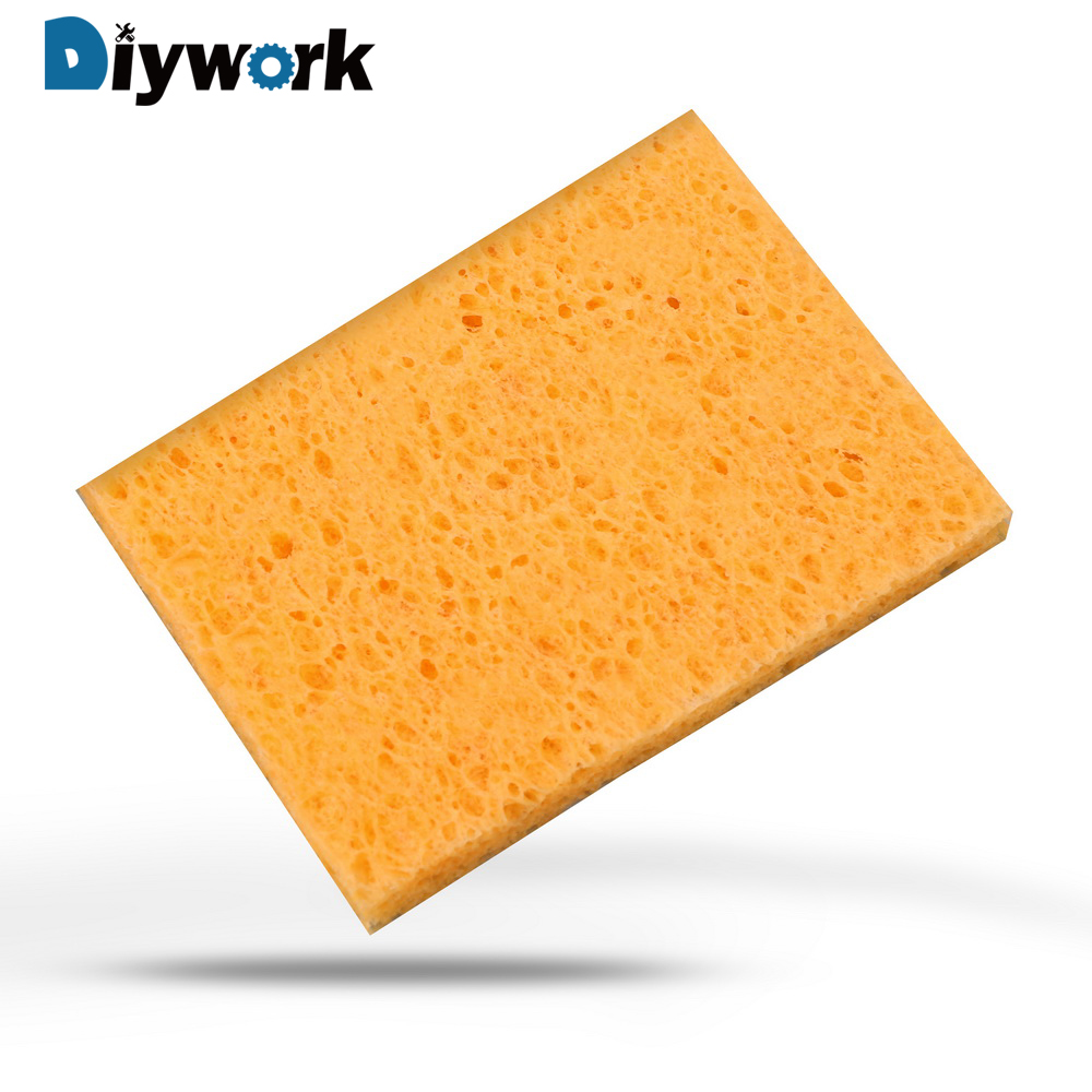 DIYWORK 2 Pcs 5x3.5cm Universal High Temperature Resistance Sponge Soldering Iron Tip Welding Cleaning Welding Table Sponge