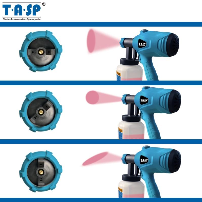 Image 5 - TASP 120 В/230 В 400 Вт Электрический пистолет распылитель HVLP Краскораспылитель компрессор с регулируемым управлением потоком и ситечком и маской-in Распылители from Инструменты on