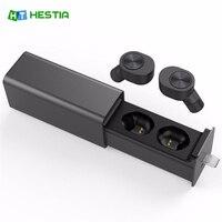 HESTIA TWS Wireless Earphones Stereo Bluetooth Headset V4 2 TWS Earbuds Magnetic Charger Box MIC Earphone