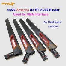 Nova antena wifi de 4 pces de RP-SMA interface com 8dbi 2.4g/5g antena wi-fi sem fio de banda dupla para ac88u asus RT-AC68U ex6200 ac15